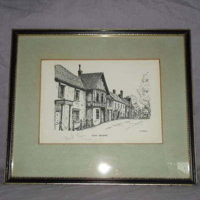 Great Bardfield Essex Ltd Edition Print By D N Pegram.