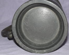 Early Victorian 1 Pint Pewter Tankard (5)