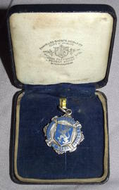 Silver and Enamel Football Medal Horsham 1936 (2)