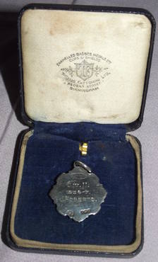 Silver and Enamel Football Medal Horsham 1936 (3)