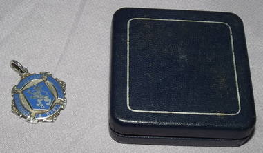 Silver and Enamel Football Medal Horsham 1936 (4)