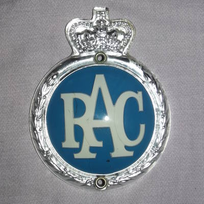 Vintage Plastic Rac Grille Badge