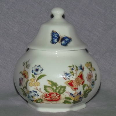 Aynsley Cottage Garden China Lidded Trinket Pot.