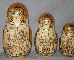Set of 9 Russian Dolls The Golden Ring Of Russia (4)