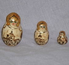 Set of 9 Russian Dolls The Golden Ring Of Russia (5)
