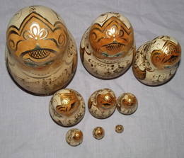 Set of 9 Russian Dolls The Golden Ring Of Russia (6)