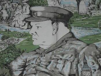 Winston Churchill 1974 Centenary Silk Head Scarf (2)