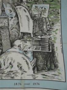 Winston Churchill 1974 Centenary Silk Head Scarf (3)