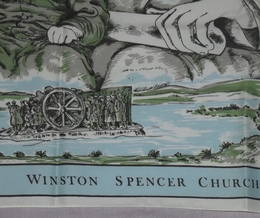 Winston Churchill 1974 Centenary Silk Head Scarf (4)