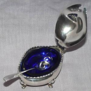 Silver Mustard Pot Oldfields Ltd 1922 (2)