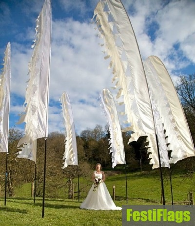 Wedding Flag Hire Festiflags