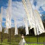 Woodechester Mansion White Wedding Flags 3