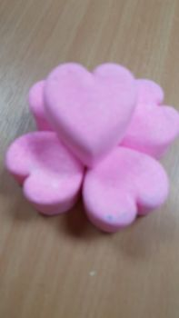 Mini Bath Bomb Hearts - Custom Colours and Fragrances x 50