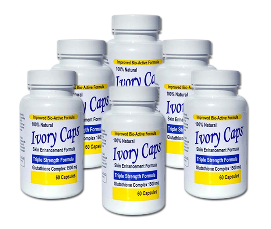 <!-- 007-->Ivory Caps Skin Lightening Whitening Pill (Pack of 6 Save £30.00