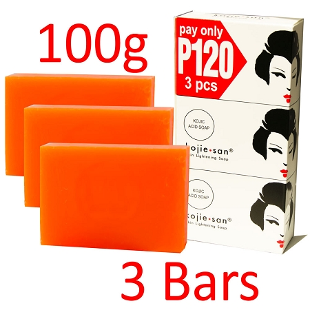 Kojie San Skin Lightening Kojic Acid Soap 3 Bars - 100g