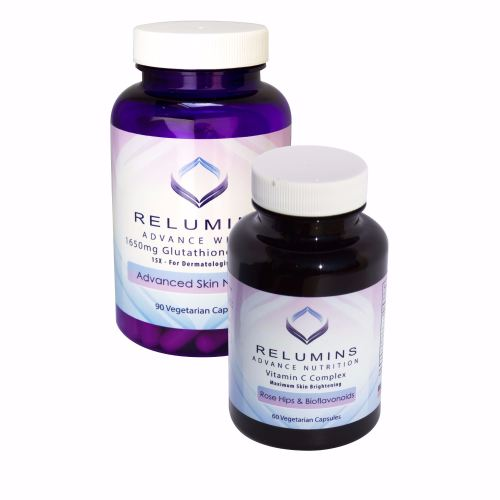 Relumins Advanced White Dermatologic Set - 1650mg Glutathione Complex and A