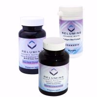 Relumins Advance White Triple Capsule MAX Set - MAX Dose Glutathione with 6x Boosters, Collagen MAX Chewable Tablets and Vitamin C MAX - Maximum Skin