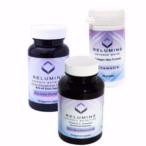 Relumins Advance White Triple Capsule MAX Set - MAX Dose Glutathione with 6