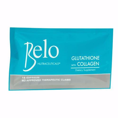 Belo Nutraceuticals Glutathione + Collagen Dietary Supplement 10 Capsules
