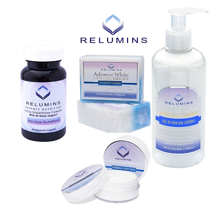 Relumins Glutathione Body Whitening Set With Intimate - 4pc Set - Day Lotio