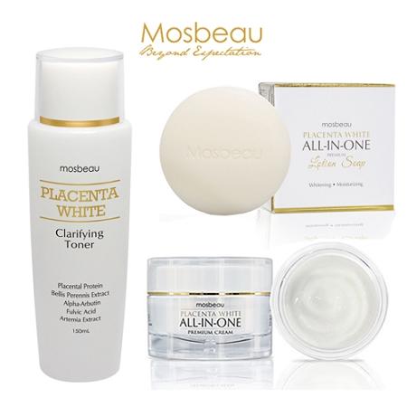 Mosbeau Ultimate Facial Whitening & Anti-Aging Set - Deep Whitens, Moisturi