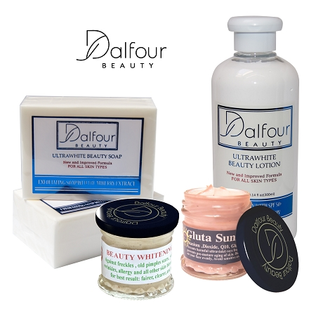 Authentic Dalfour Beauty Face & Body Whitening Set With Excel Creamy & Glut