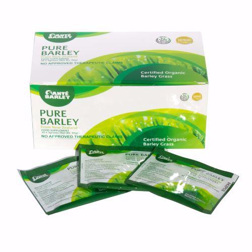 10 Boxes Sante Pure Barley New Zealand Blend with Stevia - Large Box 30 Sac