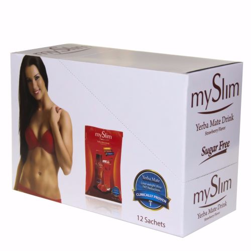 MySlim Yerba Mate Fat Burner Drink - 12 Sachets of Premium Weight Loss Drin
