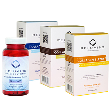 Relumins Premium Collagen and Glutathione. Feel Good - Look Good Set!!!