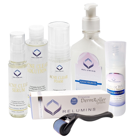 Authentic Relumins Medicated Professional Total Acne& Scar Fighting Set For