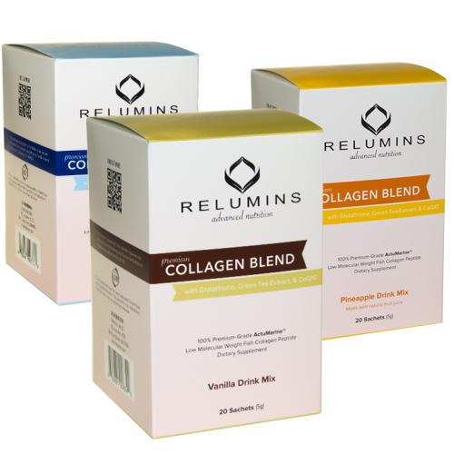 Relumins Premium Collagen Blend - 20 Sachets - 100% Premium-Grade ActuMarin