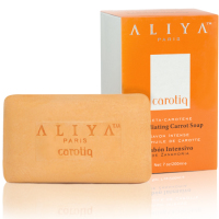 Authentic Aliya Paris Carotiq Exfoliating Carrot Soap - Lightening Soap with Exfoliating Beads for Smooth Even Skin