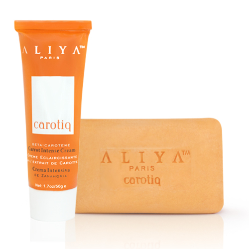 Authentic Aliya Paris Carotiq Carrot Intense Cream and Exfoliating Carrot S