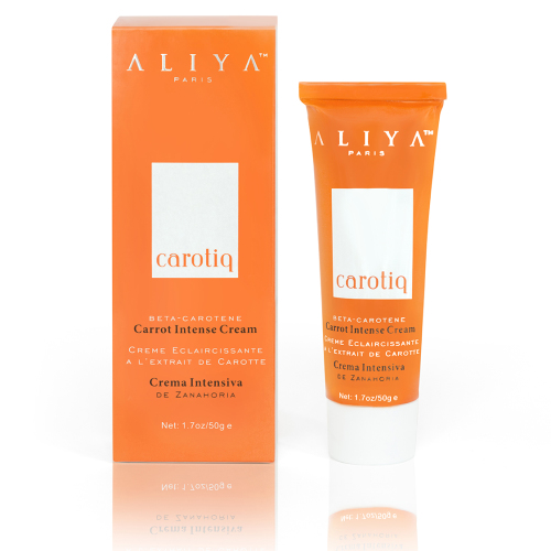 Aliya Paris Carotiq Carrot Intense Cream - Hydrating, Lightening Face Cream