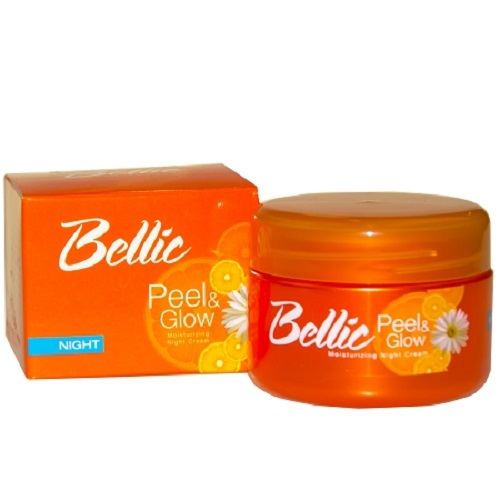 Bellic Peel and Glow Moisturizing Night Cream- Kojic Acid and Vitamin E wor