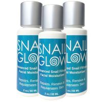 3 Bottles Snail Glow Snail Filtrate facial moisturizing cream