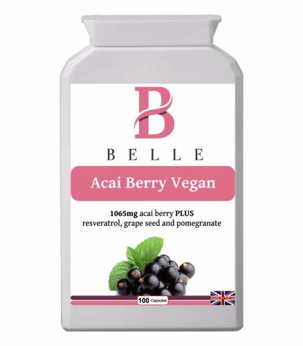 Belle® Acai Berry Vegan Slimming capsules 1065mg Weight Loss Supplement Tab