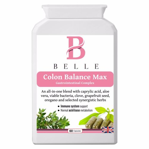 Belle® Colon Balance Max supplement - Anti-Candida, healthy gut and detox f
