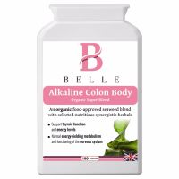 Belle® Alkaline Colon Body supplement - alkalising, cleansing, detoxification and daily nourishment formula - Organic Super Blend - With seaweed, arti