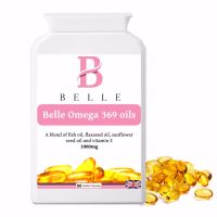 Belle® Omega 3 6 9 oils High Strength Softgels 1000mg -  Manufactured In The UK - 60 Gelatin capsules