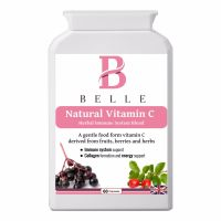 Belle® Natural Vitamin C supplement - Herbal Immune System Blend - derived from vitamin and antioxidant-60 capsules