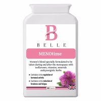 Belle® MENOtime Menopause Support Relief Supplement - Period Pain - Help relieve symptoms associated with premenstrual syndrome- 60 capsules