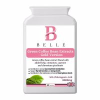 Belle® Green Coffee Bean Extracts - with GCA (50% Chlorogenic Acids) High-strength natural slimming formula - Promote Weight Loss Support-60 capsules