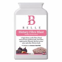 Belle® Dietary Fibre Blast - Soluble and Insoluble Fibre Blend IBS supplement - High Fibre Tablets pills - Suitable for maintaining a healthy, regular