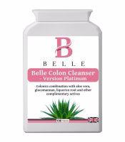 Belle® Colon Cleanser Platinum Version - Pure Colon Cleansing & Weight Loss - Colon Cleanse Herbal Detox Vegetarian Friendly - 100 Colon Cleanser Caps