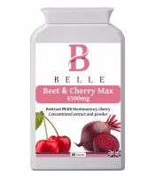 Belle® Beet & Cherry Max 4500mg - Montmorency cherry and beetroot formula with vitamin B6, black pepper powder and turmeric extract-Suitable for veget