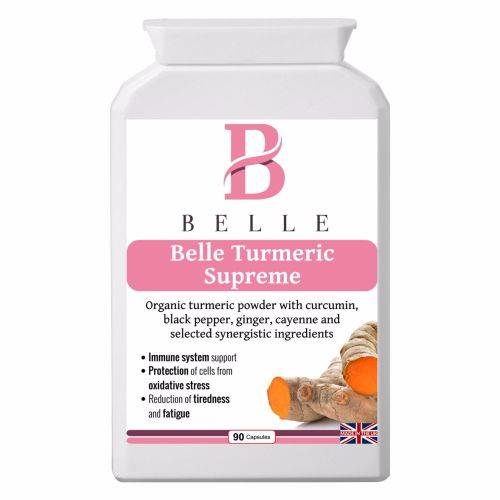 Belle® Turmeric Supreme supplementganic turmeric powder with curcumin ,blac