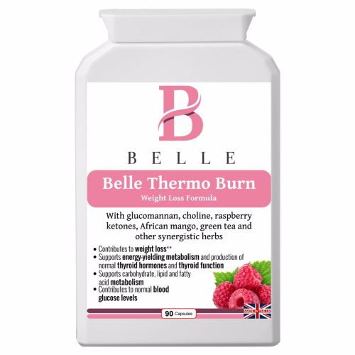 Belle® Thermo Burn Supplement - Weight Loss Formula - With glucomannan, ras