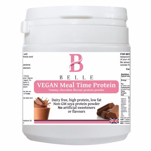Belle® Vegan Meal time Protein Powder - Chocolate Flavour Shake -soya isola