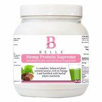 Belle® Hemp Protein Supreme Powder - Refreshing Chocolate and mint flavour hemp protein powder plus superfoods 500g